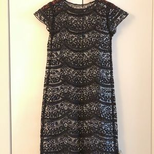 Anthropologie black lace dress Size 2